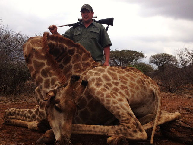 Giraffe - 308 Win, 180 gr BushMaster, 40 yards, broadside